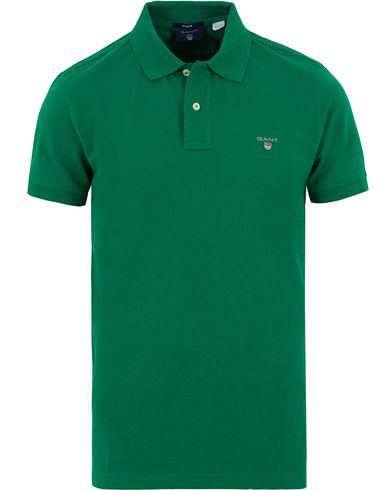 Gant The Original Polo Kelly Green i gruppen Pikéer / Kortärmade pikéer hos Care of Carl (13677111r)
