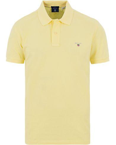 Gant The Original Polo Light Yellow i gruppen Pikéer / Kortärmade pikéer hos Care of Carl (13677311r)
