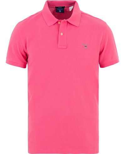 Gant The Original Polo Bright Magenta i gruppen Pikéer / Kortärmade pikéer hos Care of Carl (13677411r)