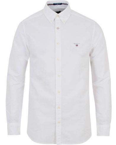 Gant Fitted Body Oxford Shirt White i gruppen Skjortor / Oxfordskjortor hos Care of Carl (13681311r)