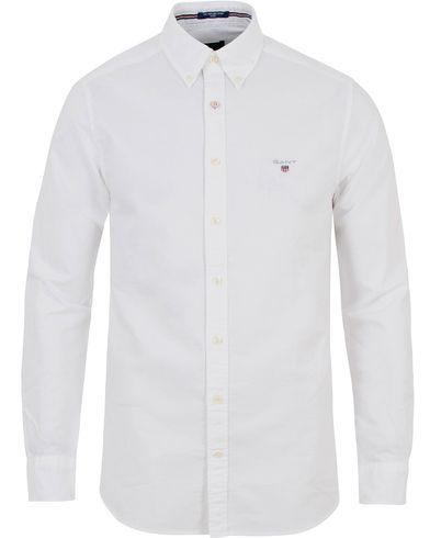 GANT Fitted Body Oxford Shirt White i gruppen Kläder / Skjortor / Oxfordskjortor hos Care of Carl (13681311r)