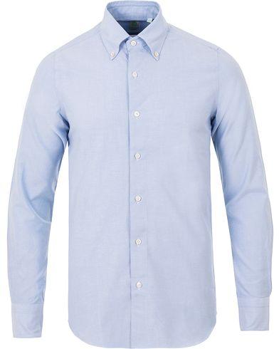 Finamore Napoli Slim Fit Oxford Button Down Shirt Light Blue i gruppen Kläder / Skjortor / Casual / Oxfordskjortor hos Care of Carl (13695311r)