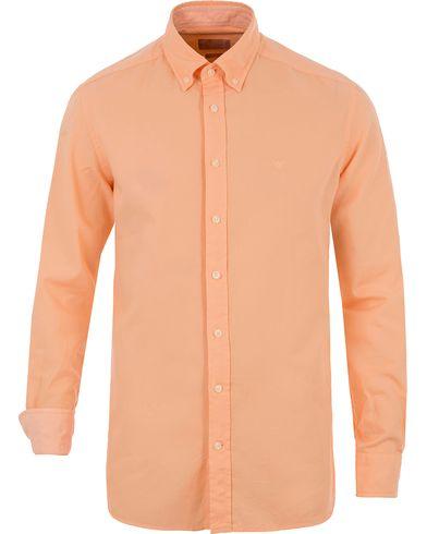 Hackett Slim Fit Garment Dyed Oxford Shirt Orange i gruppen Skjortor / Oxfordskjortor hos Care of Carl (13712111r)