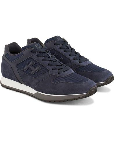 Hogan Running Sneakers Navy Suede i gruppen Sko / Sneakers / Running sneakers hos Care of Carl (13720211r)
