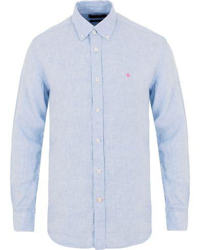 Morris Douglas Linen Shirt Light Blue i gruppen Skjortor / Linneskjortor hos Care of Carl (13728811r)