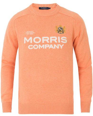 Morris William O-Neck Orange i gruppen Tröjor / Stickade tröjor hos Care of Carl (13732311r)