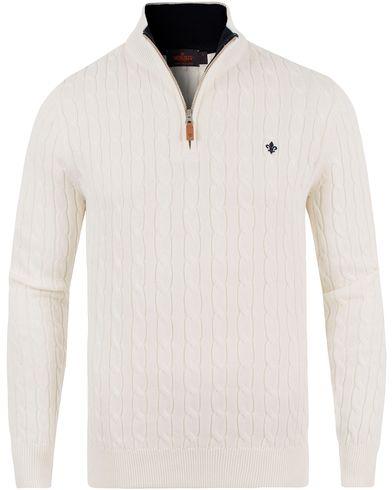 Morris John Half Zip Off White i gruppen Kläder / Tröjor / Zip-tröjor hos Care of Carl (13733211r)