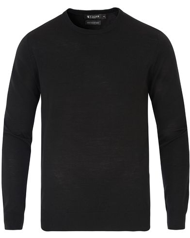 Tiger of Sweden Mattias Crew Neck Pullover Black i gruppen Kläder / Tröjor / Pullovers / Rundhalsade pullovers hos Care of Carl (13736611r)