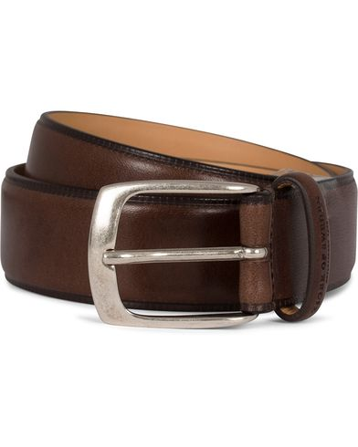 Tiger of Sweden Blommer Leather 3,5 cm Belt Brown i gruppen Accessoarer / Bälten / Släta bälten hos Care of Carl (13738811r)