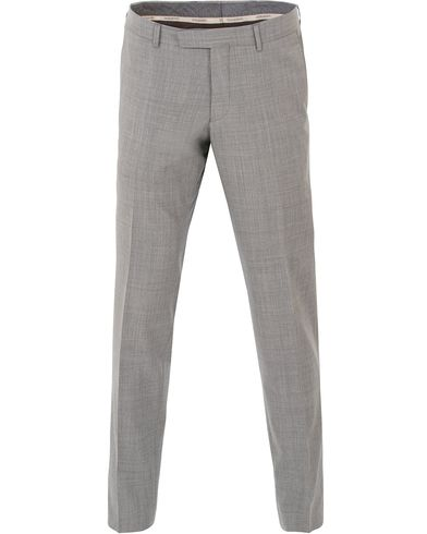 Oscar Jacobson Damien Wool Barberis Super 110 Trousers Light Grey i gruppen Kläder / Byxor / Kostymbyxor hos Care of Carl (13754311r)
