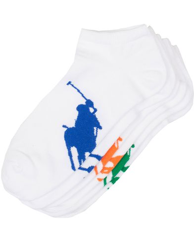 Polo Ralph Lauren 3-Pack Sneakers Socks White  i gruppen Underkläder / Strumpor / Ankelstrumpor hos Care of Carl (13774010)