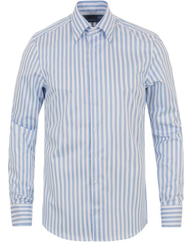 Stenströms Slimline Button Down Stripe Shirt White/blue i gruppen Kläder / Skjortor / Formella skjortor hos Care of Carl (13780611r)