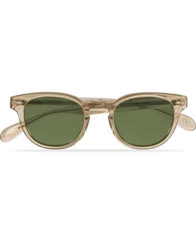 Oliver Peoples Sheldrake Sunglasses Buff/Crystal Green  i gruppen Accessoarer / Solglasögon / Fyrkantiga solglasögon hos Care of Carl (13787410)