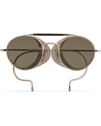 Thom Browne TB-001 Sunglasses Shiny Silver  i gruppen Assesoarer / Solbriller / Runde solbriller hos Care of Carl (13788810)