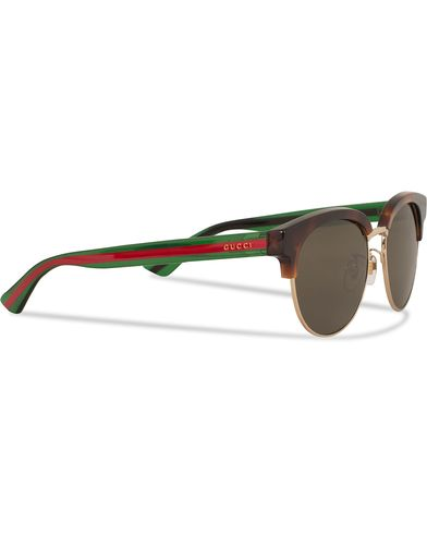 Gucci GG0058SK Sunglasses Avana/Green/Brown  i gruppen Accessoarer / Solglasögon / D-formade solglasögon hos Care of Carl (13794210)