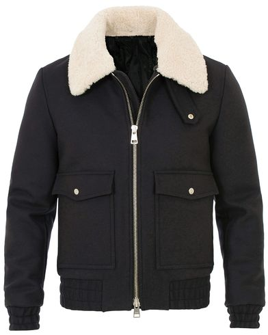 AMI Blouson Shearling Poches Plaquees Jacket Navy i gruppen Kläder / Jackor hos Care of Carl (14002811r)