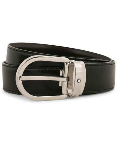 Montblanc Reversible Horseshoe Buckle 30mm Belt Black  i gruppen Assesoarer / Belter / Umønstrede belter hos Care of Carl (14009910)