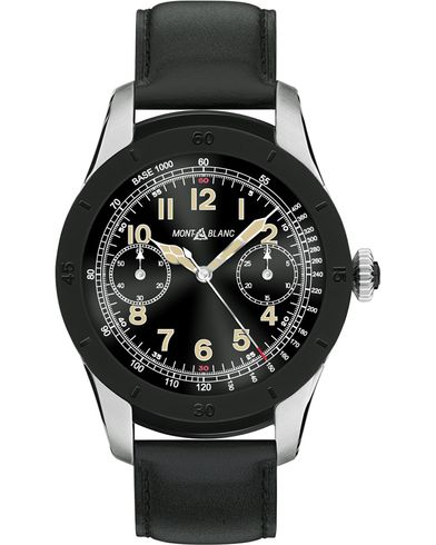 Montblanc Summit Smartwatch Bi-color Steel 46mm Black Calf  i gruppen Tilbehør / Ure hos Care of Carl (14010910)