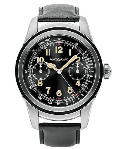 Montblanc Summit Smartwatch Stainless Steel 46mm Black Calf  i gruppen Assesoarer / Klokker hos Care of Carl (14011110)