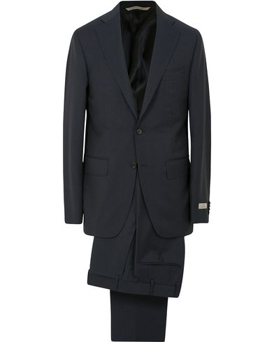 Canali Capri Wool Suit Navy i gruppen Tøj / Jakkesæt hos Care of Carl (14012311r)