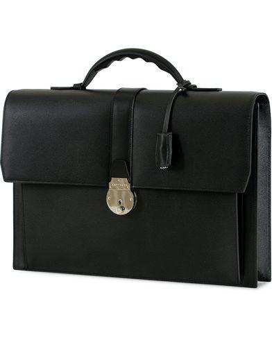 Smythson Grosvenor Slim Calf Briefcase Black  i gruppen Assesoarer / Vesker / Dokumentvesker hos Care of Carl (14032310)