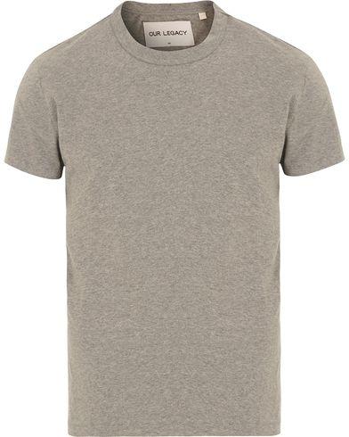 Our Legacy Perfect Army Jersey T-shirt Grey Melange i gruppen Klær / T-Shirts / Kortermede t-shirts hos Care of Carl (14043911r)