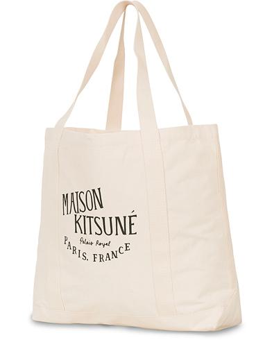 Maison Kitsuné Tote Bag Palais Royal Ecru  i gruppen Tilbehør / Tasker / Tote bags hos Care of Carl (14046510)