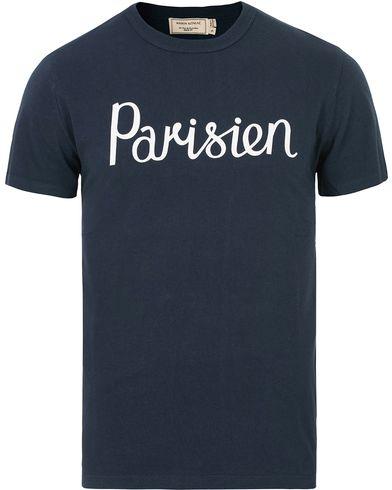 Maison Kitsuné Tee Parisien Navy i gruppen Tøj / T-Shirts / Kortærmede t-shirts hos Care of Carl (14046911r)