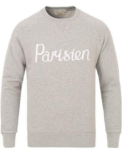Maison Kitsuné Sweatshirt Parisien Grey Melange i gruppen Tøj / Trøjer / Sweatshirts hos Care of Carl (14047711r)