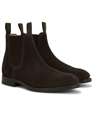 Loake 1880 Chatsworth Chelsea Boot Dark Brown Suede i gruppen Skor / Kängor / Chelsea boots hos Care of Carl (14050911r)