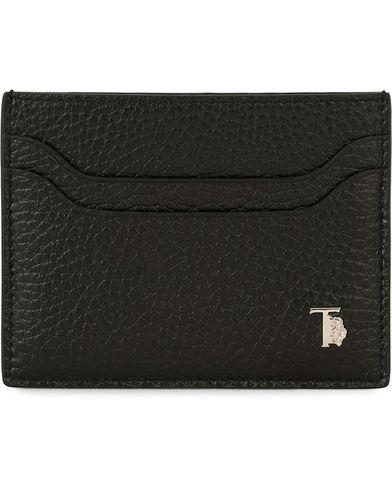 Tod's Grained Leather Credit Card Holder Black  i gruppen Accessoarer / Plånböcker / Korthållare hos Care of Carl (14053910)