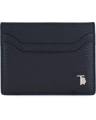 Tod's Grained Leather Credit Card Holder Navy  i gruppen Accessoarer / Plånböcker / Korthållare hos Care of Carl (14054010)
