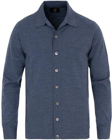 Dunhill Fine Gauge Shirt Mid Blue i gruppen Tøj / Trøjer hos Care of Carl (14079211r)