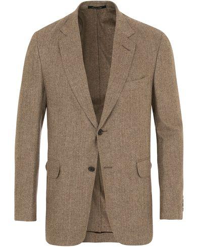 Dunhill Notch Lapel Wool Blazer Brown i gruppen Kläder / Kavajer / Enkelknäppta kavajer hos Care of Carl (14079611r)