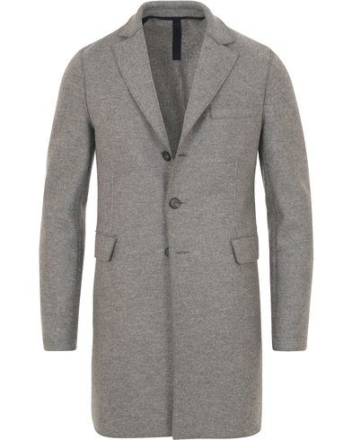 Harris Wharf London Chestercoat Wool Raw Edge Coat Light Grey Moul i gruppen Tøj / Jakker / Frakker hos Care of Carl (14083111r)