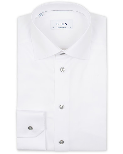 Eton Contemporary Fit Signature Twill Shirt White i gruppen Tøj / Skjorter / Formelle skjorter hos Care of Carl (14099611r)