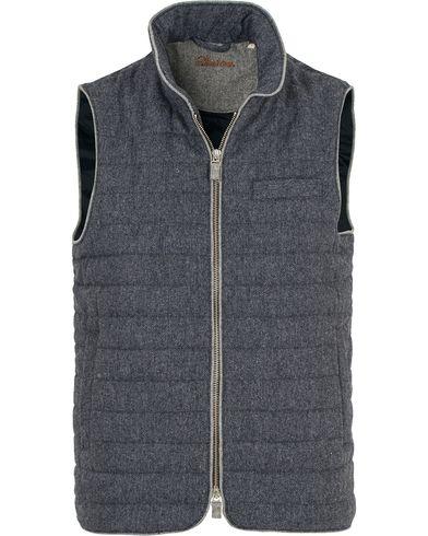 Stenströms Quilted Wool Herringbone Vest Blue i gruppen Kläder / Västar hos Care of Carl (14103011r)