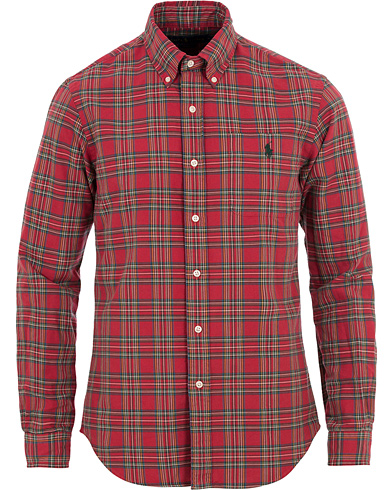 Polo Ralph Lauren Slim Fit Oxford Check Pocket Shirt Red/Hunter Green i gruppen Klær / Skjorter / Oxfordskjorter hos Care of Carl (14134511r)