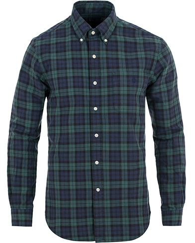 Polo Ralph Lauren Slim Fit Oxford Check Pocket Shirt Blackwatch i gruppen Klær / Skjorter / Oxfordskjorter hos Care of Carl (14134611r)