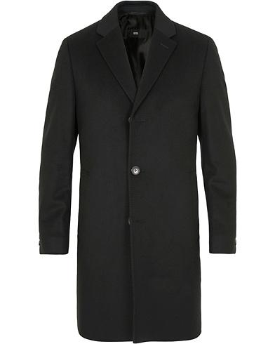 BOSS Stratus Wool/Cashmere Coat Black i gruppen Klær / Jakker hos Care of Carl (14159011r)