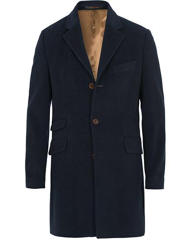 Morris William Wool Coat Navy i gruppen Klær / Jakker / Frakker hos Care of Carl (14196711r)