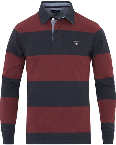 GANT The Original Barstripe Rugger Purple Wine i gruppen Kläder / Tröjor / Rugbytröjor hos Care of Carl (14236611r)