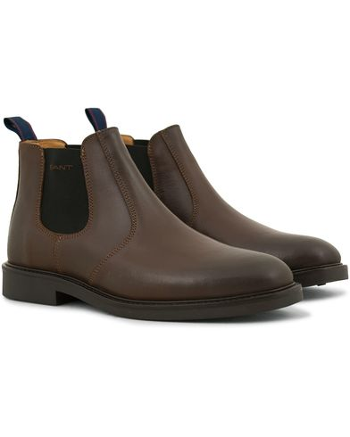 GANT Spencer Chelsea Boot Brown Calf i gruppen Skor hos Care of Carl (14243611r)