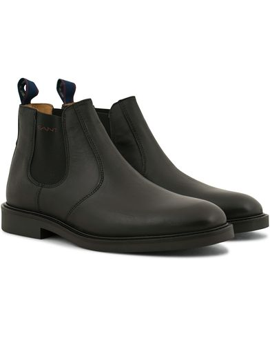 GANT Spencer Chelsea Boot Black Calf i gruppen Skor / Kängor / Chelsea boots hos Care of Carl (14243711r)