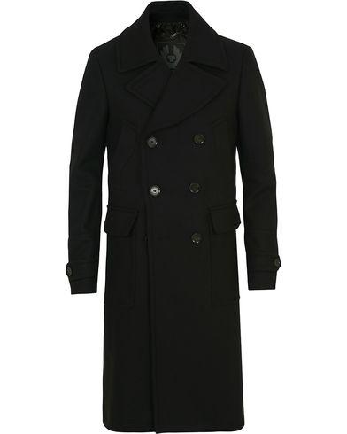 Belstaff Milford Wool/Cashmere DB Coat Black i gruppen Tøj / Jakker / Frakker hos Care of Carl (14258711r)