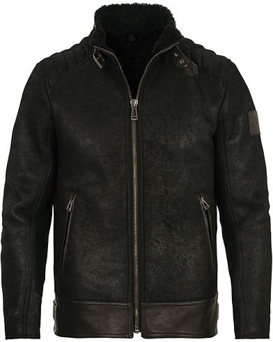 Belstaff Westlake Shearling Jacket Black i gruppen Tøj / Jakker / Læderjakker hos Care of Carl (14258911r)