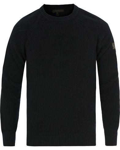 Belstaff Parkland Knitted Crew Neck Navy i gruppen Tøj / Trøjer / Strikkede trøjer hos Care of Carl (14259911r)
