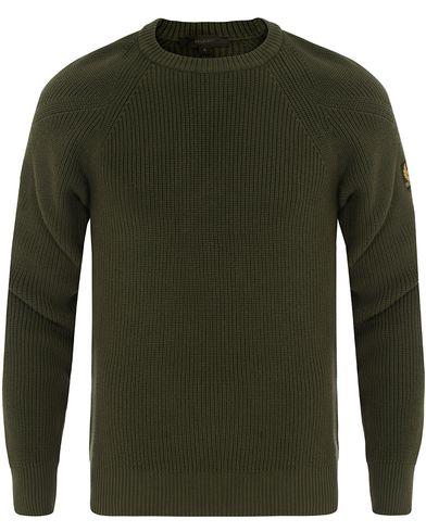 Belstaff Parkland Knitted Crew Neck Sage Green i gruppen Tøj / Trøjer / Strikkede trøjer hos Care of Carl (14260011r)