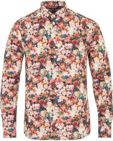 Eton Super Slim Fit Twill Printed Flower Shirt Multi i gruppen Tøj / Skjorter / Casual skjorter hos Care of Carl (14267611r)