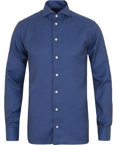 Eton Slim Fit Twill Shirt Blue i gruppen Tøj / Skjorter / Formelle skjorter hos Care of Carl (14268611r)